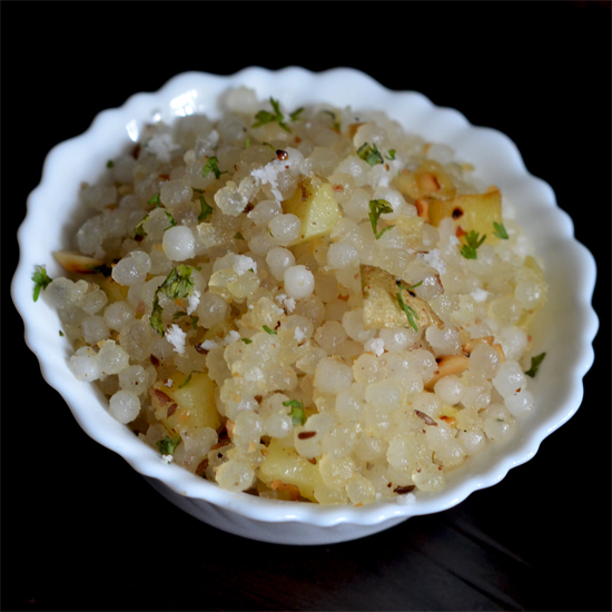 Sabudana khichdi food style