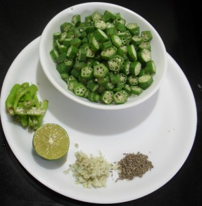 Garlic Flavored Okra