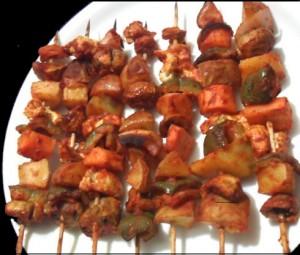 Baked Veggie Satay