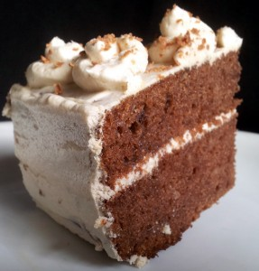 Cake With Coffee Cream Frosting