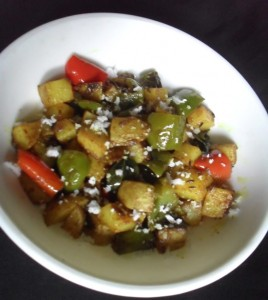 Potato Capsicum Curry Dry