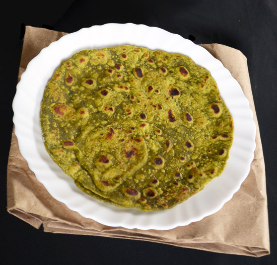 Palak Paratha Healthy Breakfast