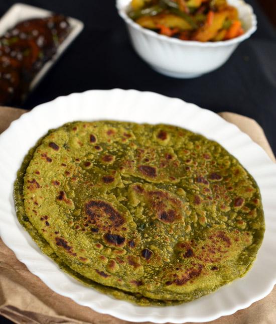 Spinach Paratha Nutritious Breakfast