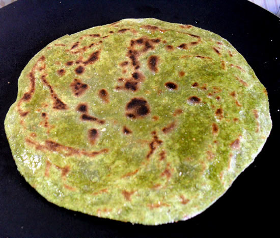 Palak cheese Paratha step 6
