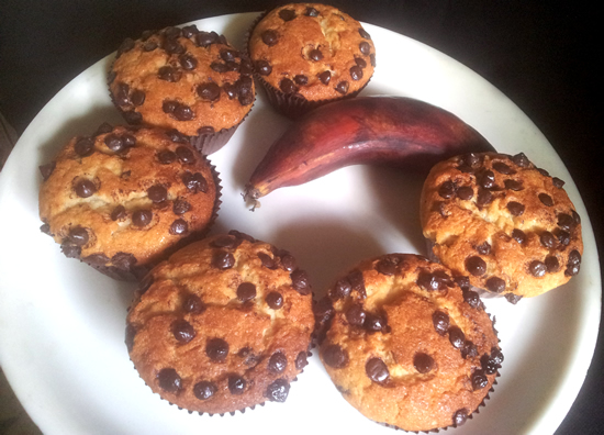 Red banana cupcake recipe