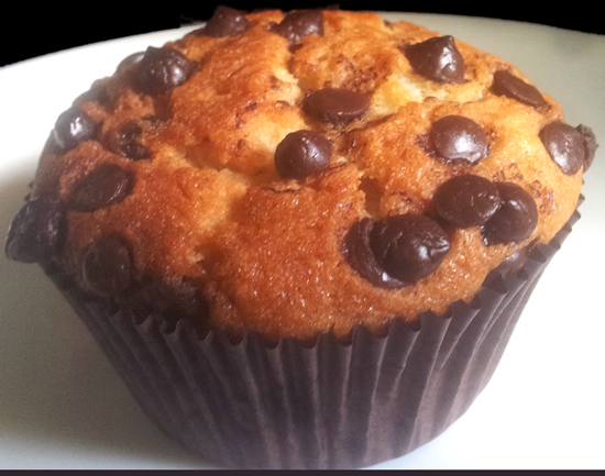 banana choco chip cupcake eggless