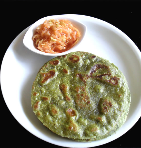 Coriander Paratha indian flat bread