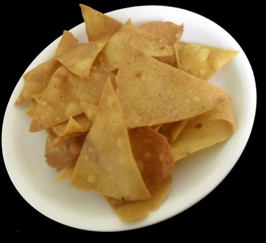 Corn Tortilla nacho chips homemade