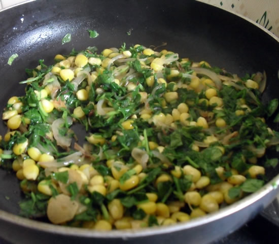Methi Corn Fry