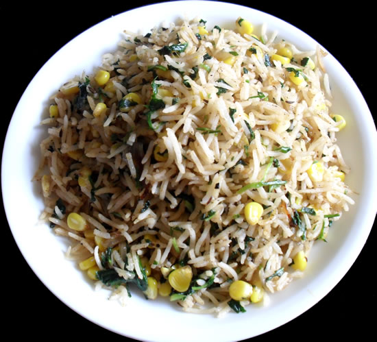 Methi Corn Pulav