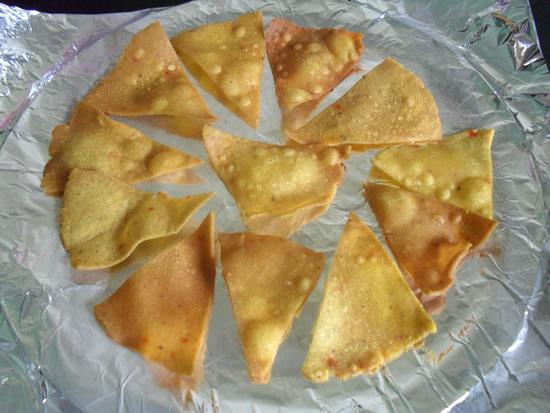 Arrange Corn chips on foil