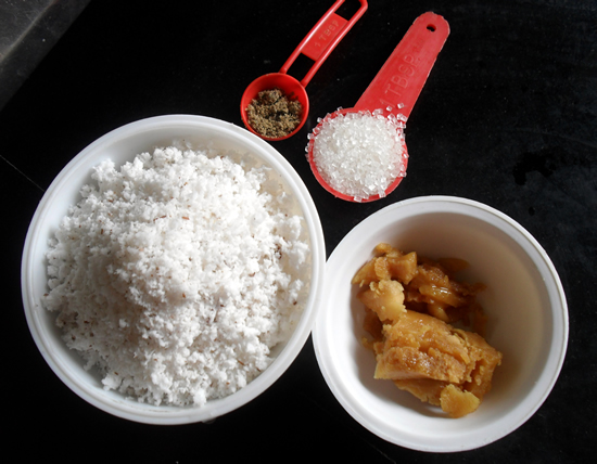 Coconut Jaggery Filling ingredients
