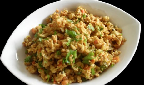 Indian flavored Scrambled Eggs