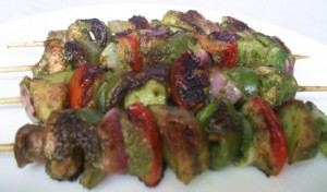 Mushroom Chicken Kebabs