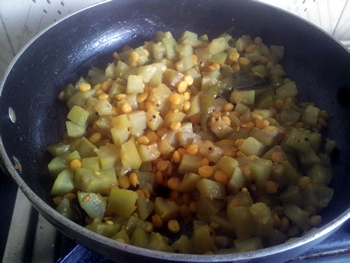 Cooked veg