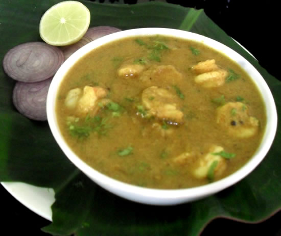 Prawns with spicy gravy
