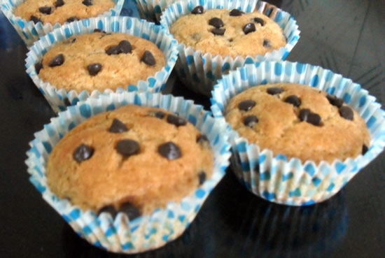 Eggless Choco-chips cupcakes