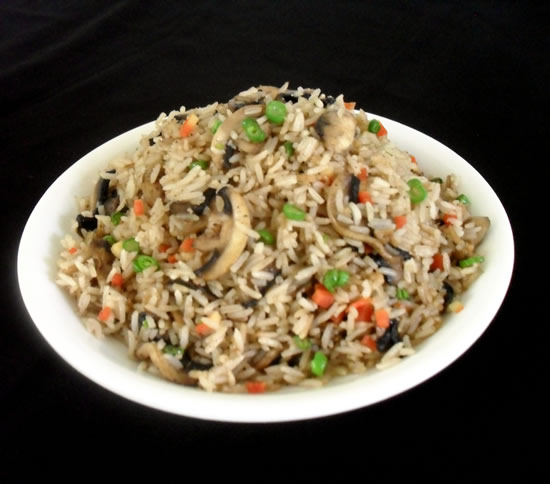 Easy fried rice with mushroom