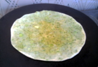 Paratha on Griddle