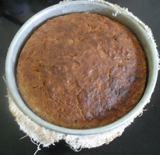 Cake Out of oven