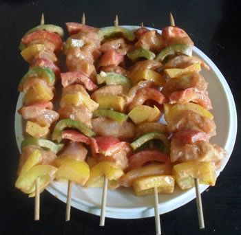 Chicken Capsicum Skewers