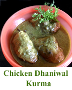 Chicken Dhaniwal Kurma