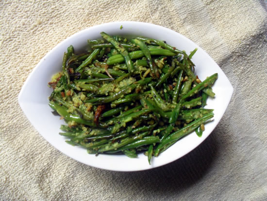 French beans thoran