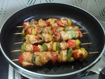 Kebabs on stove top method