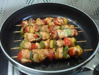 Kebabs on stove top method