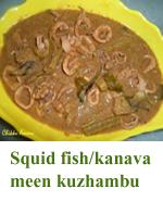 Squid fish kanava meen kuzhambu