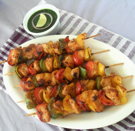 Without Tandoor chicken kebabs