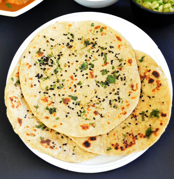 whole wheat naan without yeast
