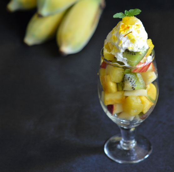 Fruit salad with dahi