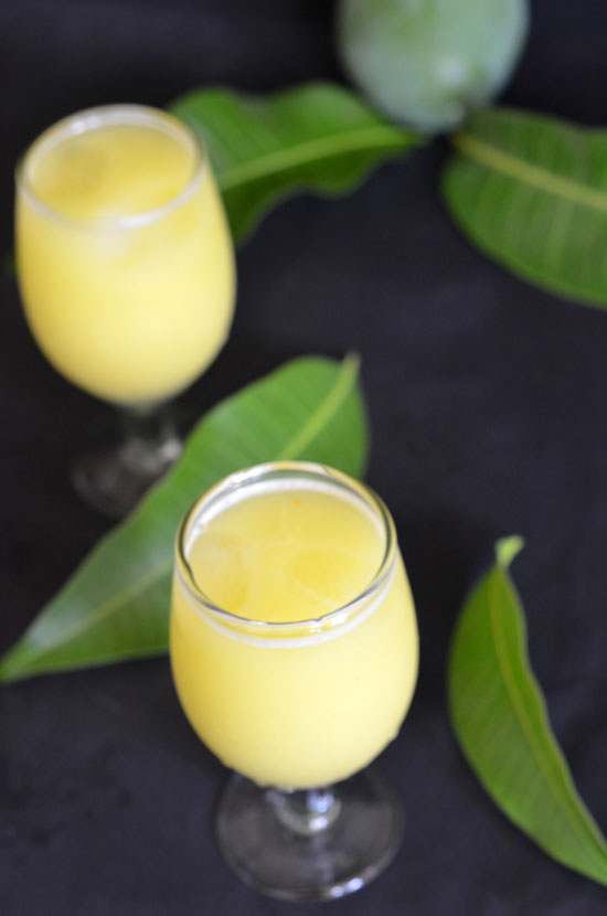 quick raw mango drink
