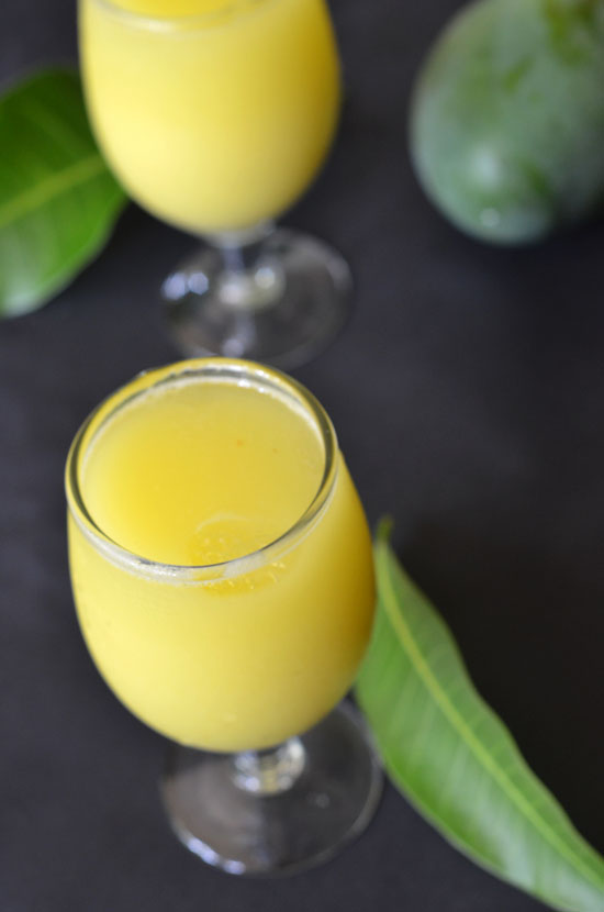summer cooler drink using raw mangoes