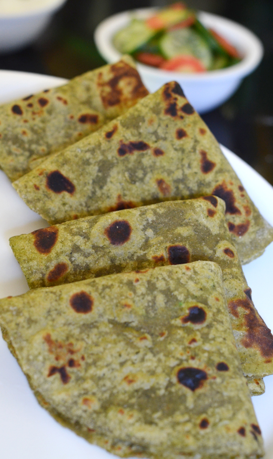 Pudina Paratha |Mint Paratha | Mint Flavored Indian Flat Bread