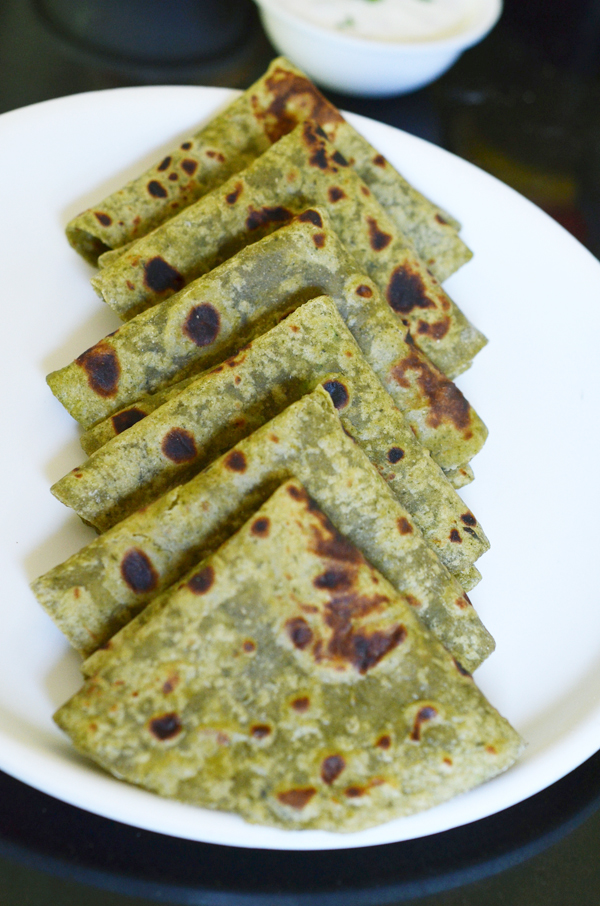 Pudina Paratha |Mint Paratha | Mint Flavored Indian Flat ...