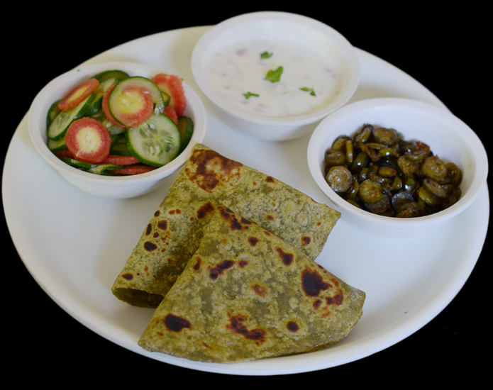 Mint Paratha served in Lunch