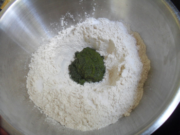 dough making for pudina aratha