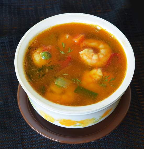 Tom Yum Goong Soup Recipe | Thai Prawns Hot and Sour Soup