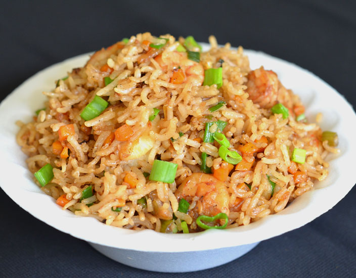 prawn fried rice recipe | how to make prawn fried rice