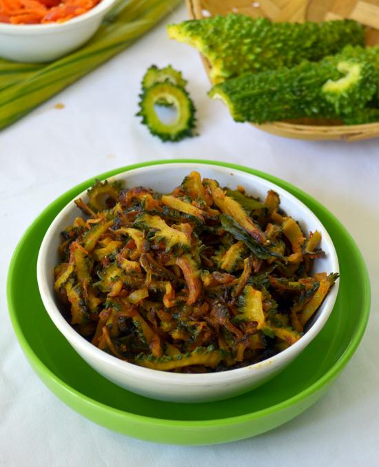 Karela masala fry sabzi