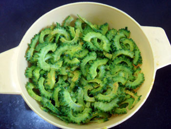 karela after marinating