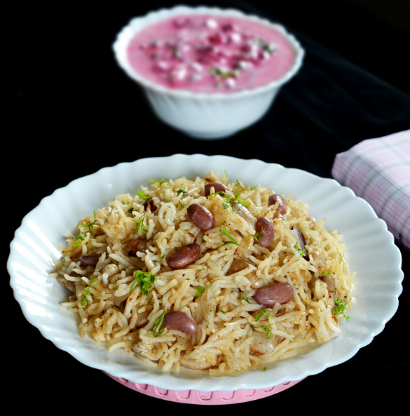 Fresh Kidney Bean's Pulav | Pulao with Fresh Rajma