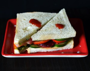 Veg Sandwich Recipe | Vegetable Sandwich
