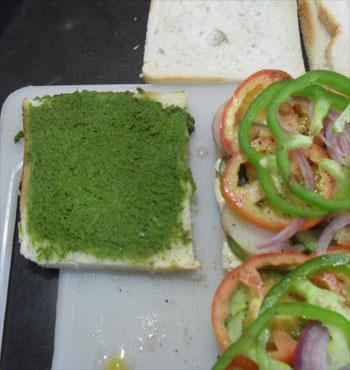 veg sandwich chutney