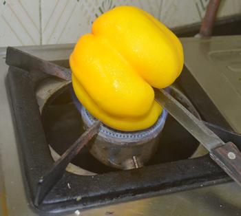 Roasting bell pepper