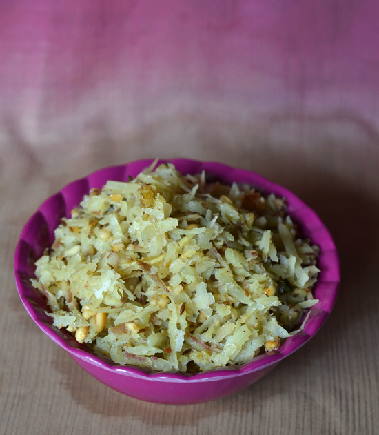 Stir Fried Grated Sweet Potato Snack