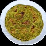palak paratha recipe marathi