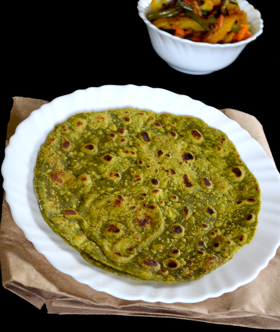 Palak Paratha recipe in marathi